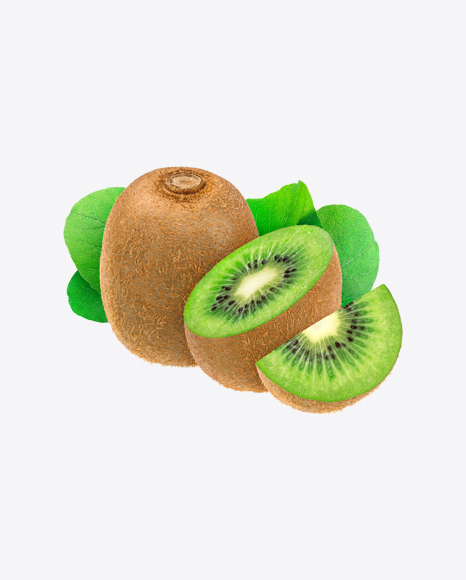 Kiwi Fruits w/ Leaves