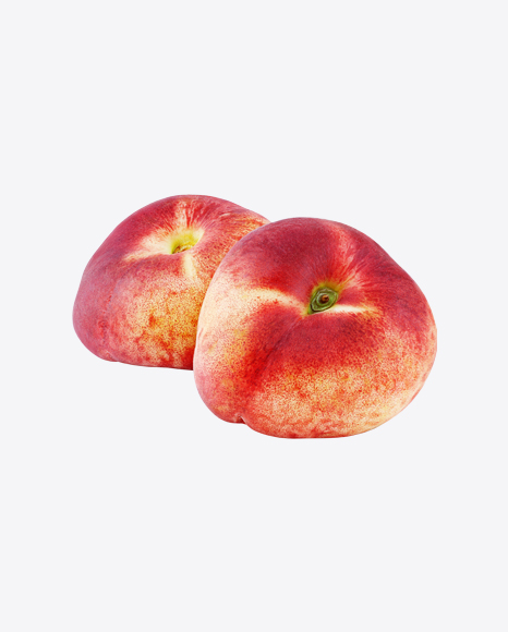 Two Flat Peaches
