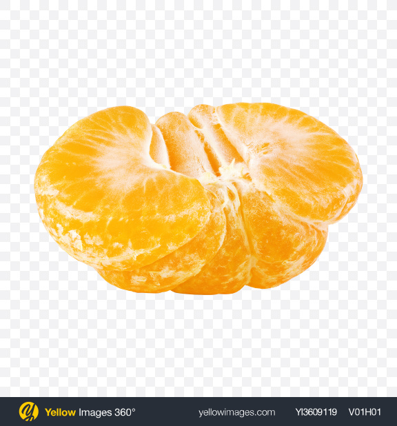 Download Half of Tangerine Transparent PNG on YELLOW Images
