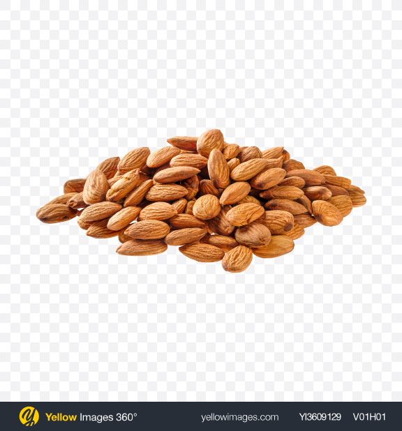 Download Pile of Almond Nuts Transparent PNG on YELLOW Images