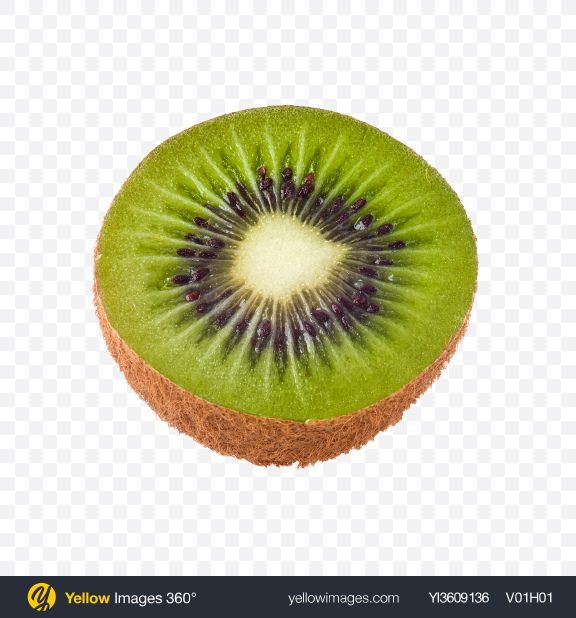 Download Half of Kiwi Fruit Transparent PNG on YELLOW Images