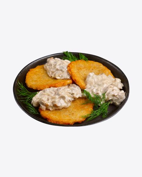Potato Pancakes w/ Mashroom Sauce