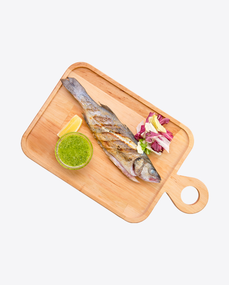 Roasted Fish w/ Salad & Pesto Sauce