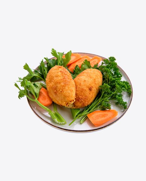 Fried Patties w/ Vegetables