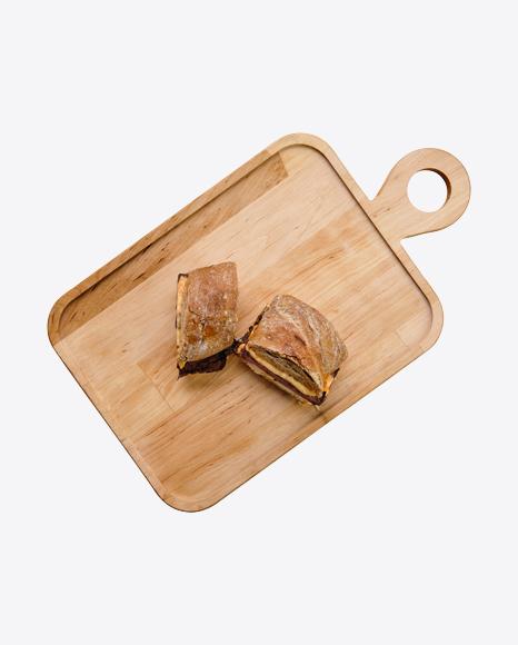 Rye Sandwiches w/ Ham & Cheese