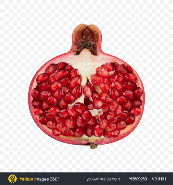 Download Half of Pomegranate Transparent PNG on YELLOW Images