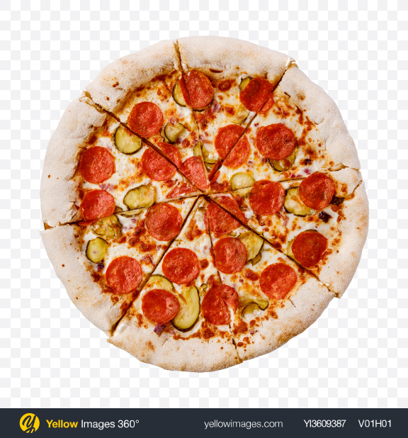 Download Pepperoni Pizza Transparent PNG on YELLOW Images