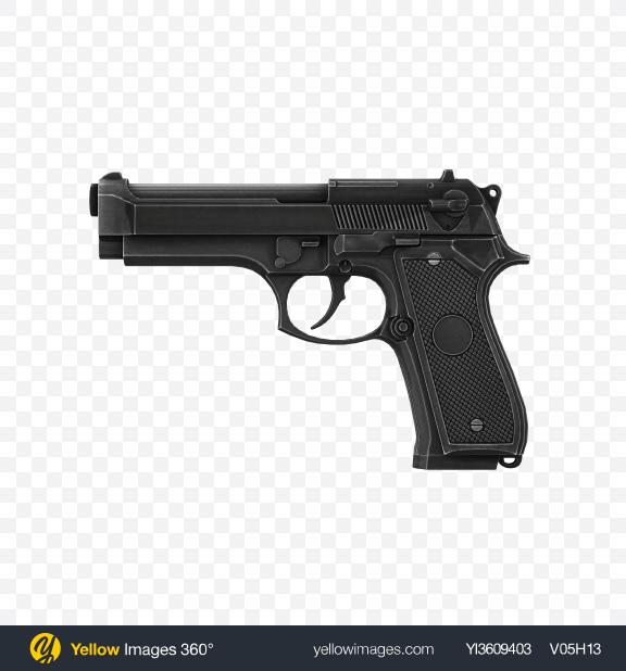 Download Black Handgun Transparent PNG on YELLOW Images