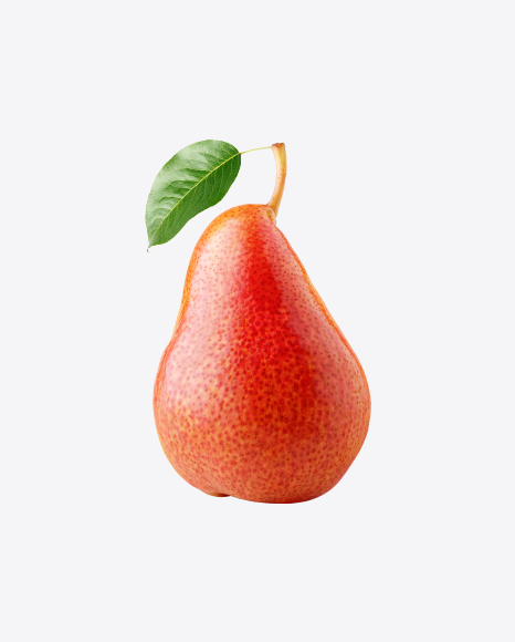 Red Pear with Leaf