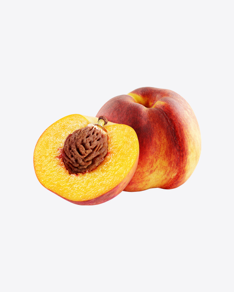 Peach with Half