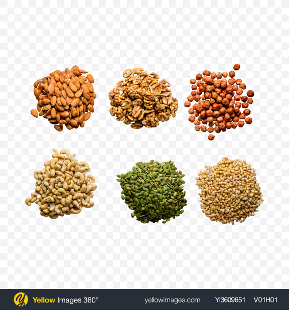 Download Nuts Set Transparent PNG on YELLOW Images