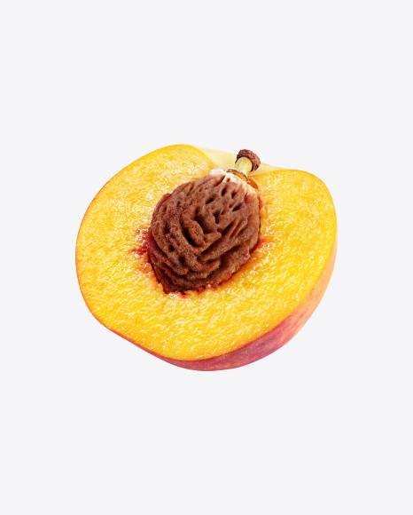 Half of Peach with Seed