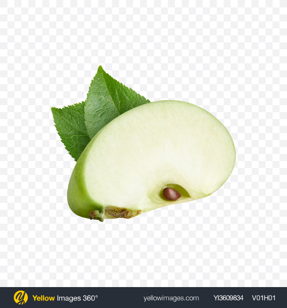 Download Green Apples Set Transparent PNG on YELLOW Images