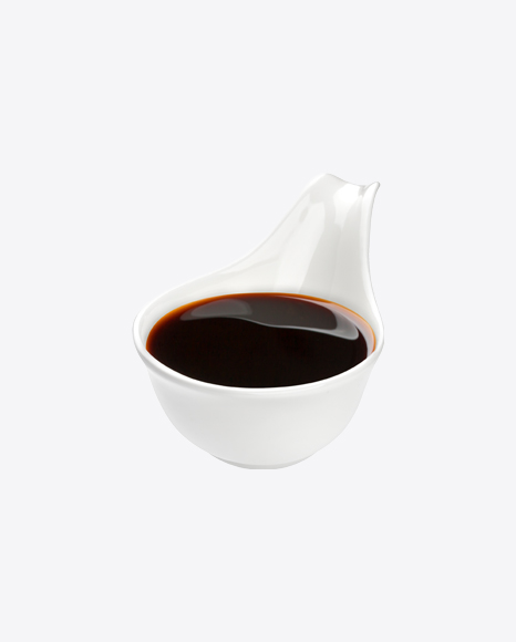 Soy Sauce in Ceramic Spoon