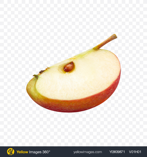 Download Apple Slice Transparent PNG on YELLOW Images