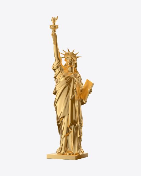 Golden Statue of Liberty Figurine
