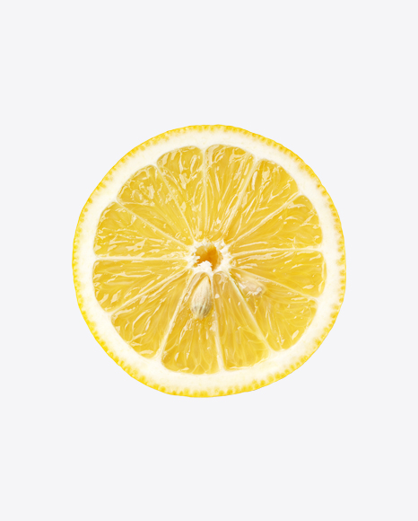 Lemon Slice with Seeds