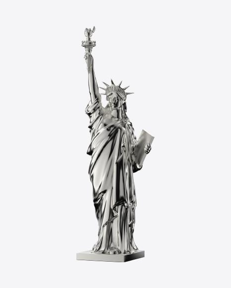 Silver Statue of Liberty Figurine