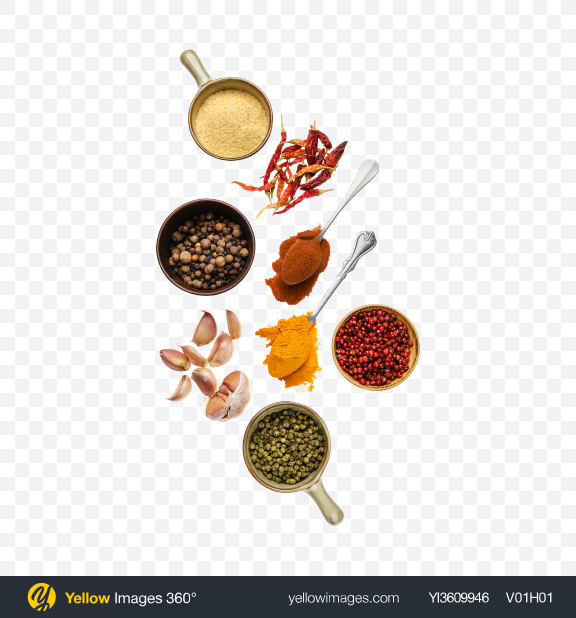 Download Spices Set Transparent PNG on YELLOW Images