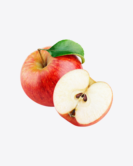 Red Apple with Half