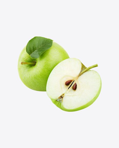 Green Apple with Half