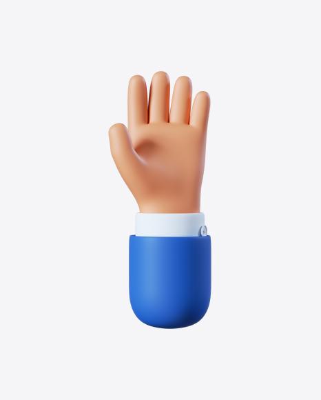 Cartoon Hand Open Gesture