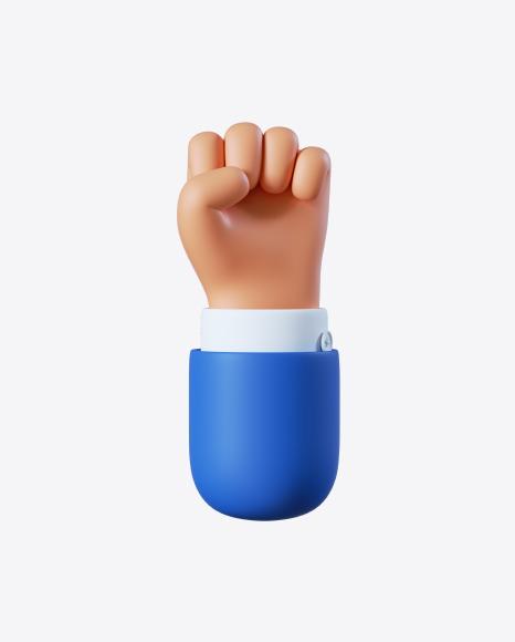 Cartoon Hand Fist Gesture