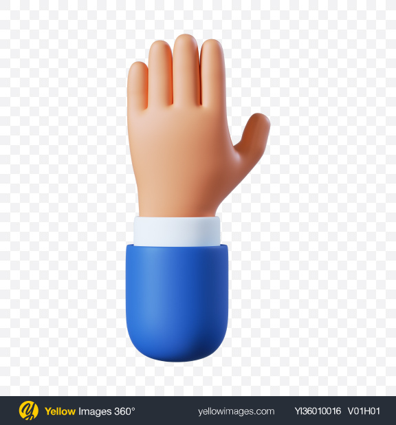 Download Cartoon Hand Five Gesture Transparent PNG on YELLOW Images