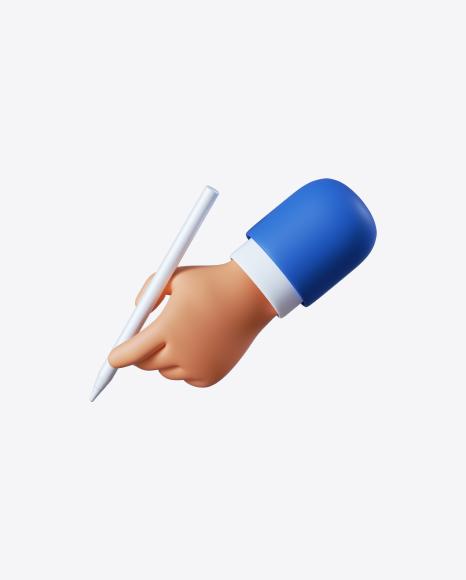 Cartoon Hand with Pen