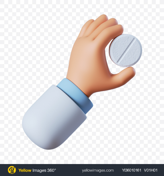 Download Doctor Hand Holding White Tablet Transparent PNG on YELLOW Images