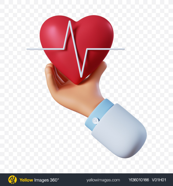 Download Doctor Hand with Heart Transparent PNG on YELLOW Images
