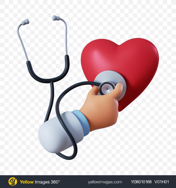 Download Doctor Hand with Stethoscope Transparent PNG on YELLOW Images