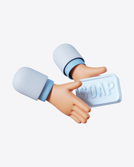 Doctor Hand Holding Soap