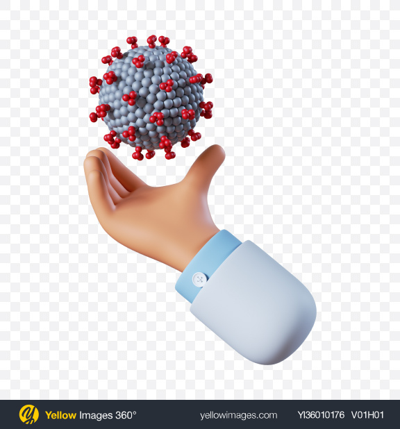 Download Doctor Hand Holding Coronavirus Transparent PNG on YELLOW Images