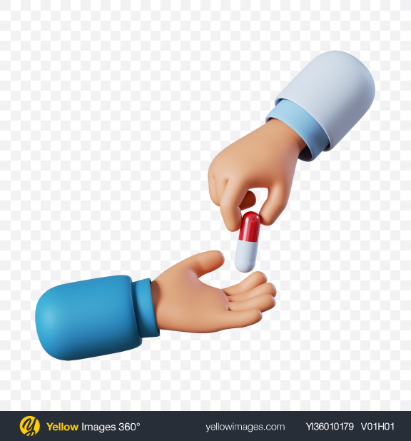 Download Doctor Hand Holding Red Pill Transparent PNG on YELLOW Images