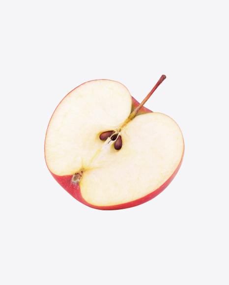 Half of Red Apple