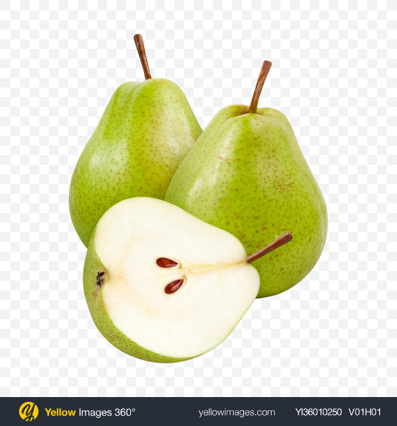 Download Green Pears Transparent PNG on YELLOW Images