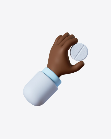 Doctor Hand Holding White Tablet
