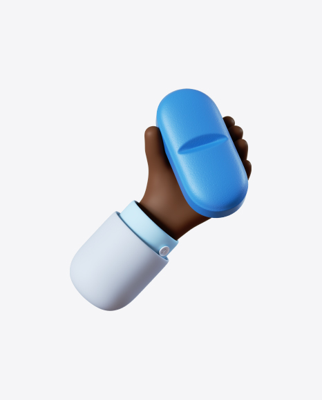 Doctor Hand Holding Blue Pill