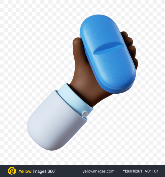 Download Doctor Hand Holding Blue Pill Transparent PNG on YELLOW Images