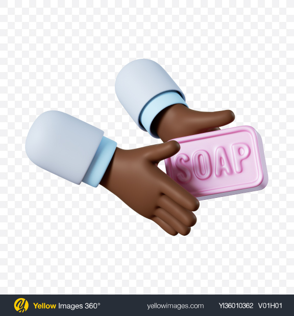 Download Doctor Hand Holding Soap Transparent PNG on YELLOW Images