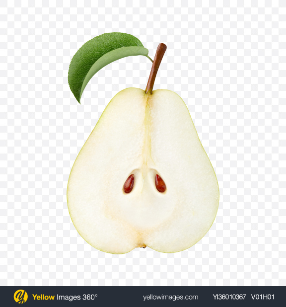 Download Half of Green Pear Transparent PNG on YELLOW Images