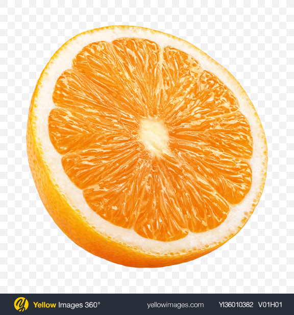 Download Half of Orange Transparent PNG on YELLOW Images