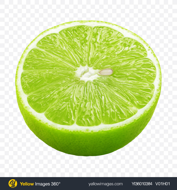 Download Half of Lime Transparent PNG on YELLOW Images
