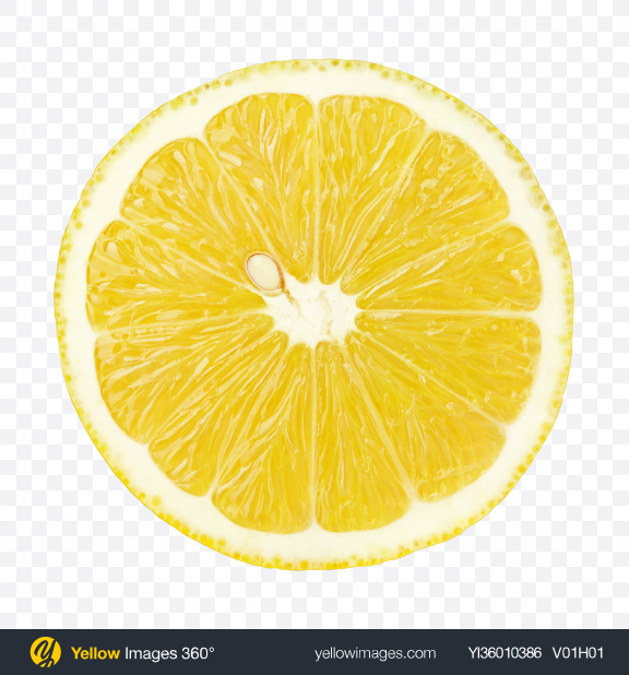 Download Lemon Slice with Seed Transparent PNG on YELLOW Images