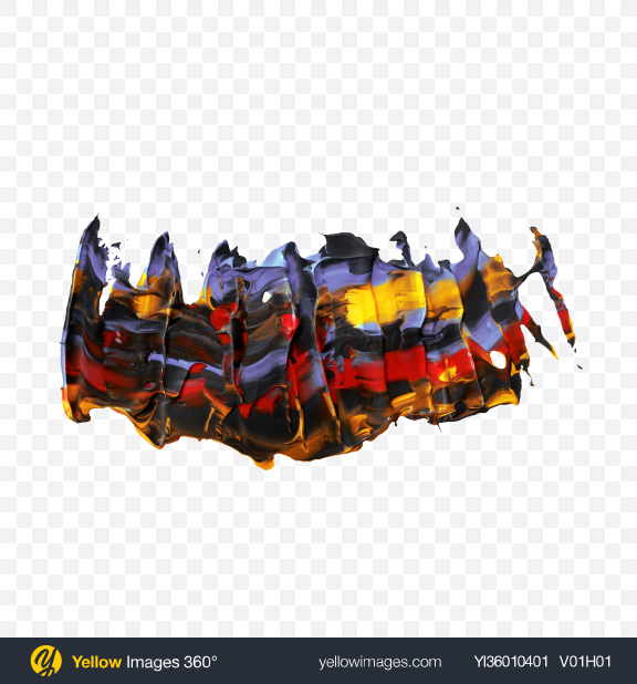 Download Abstract Paint Shape Transparent PNG on YELLOW Images