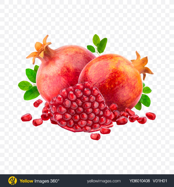 Download Pomegranate Set Transparent PNG on YELLOW Images