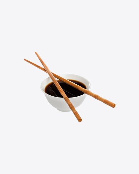 Soy Sauce w/ Chopsticks