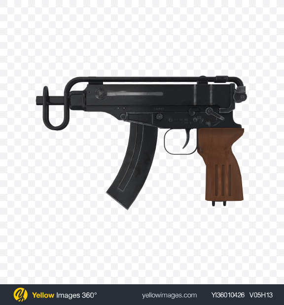 Download Machine Pistol Transparent PNG on YELLOW Images