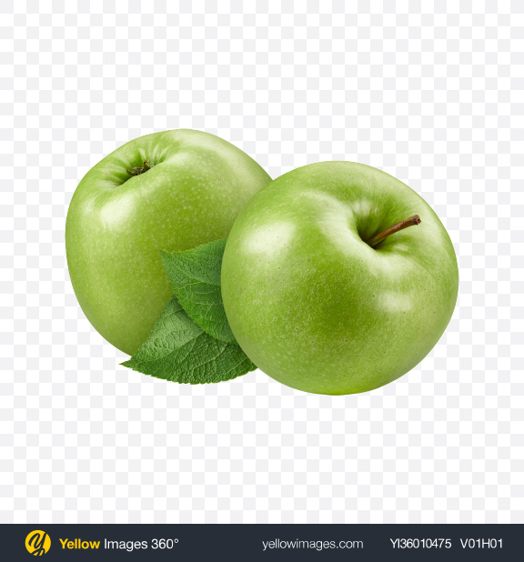 Download Two Green Apples Transparent PNG on YELLOW Images